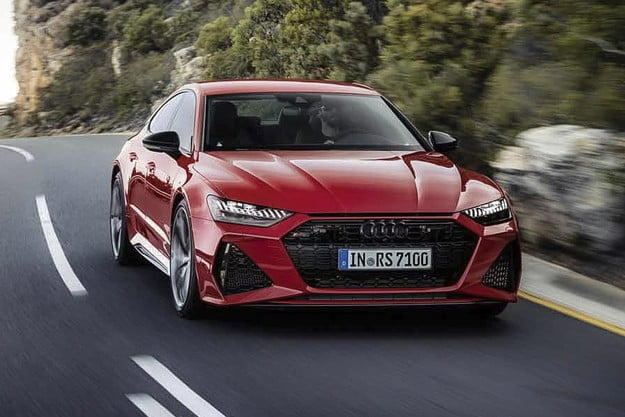 Driving down the highway   2020 Audi RS 7 first drive