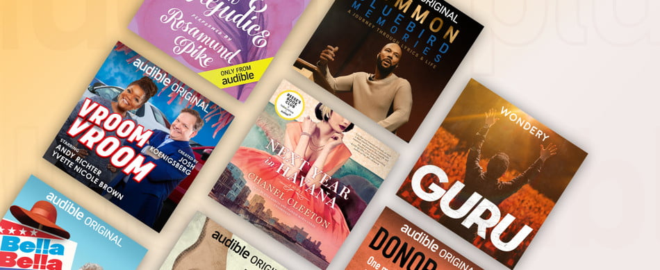 book titles featured on Audible