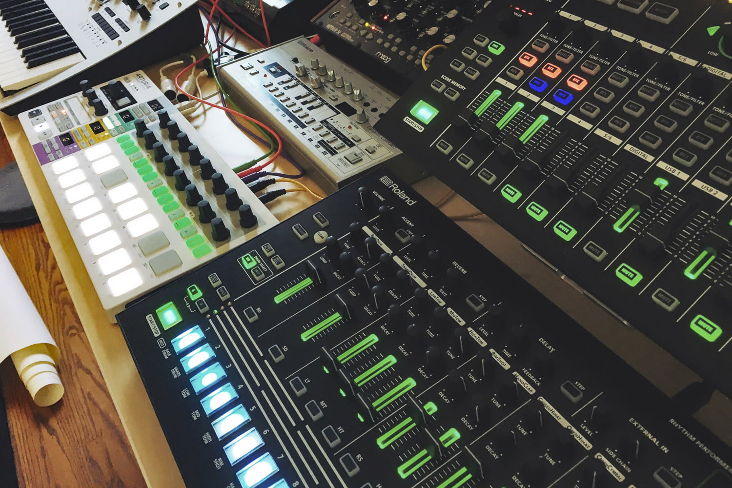 Audiophile Battle Tapes studio production dials and switches