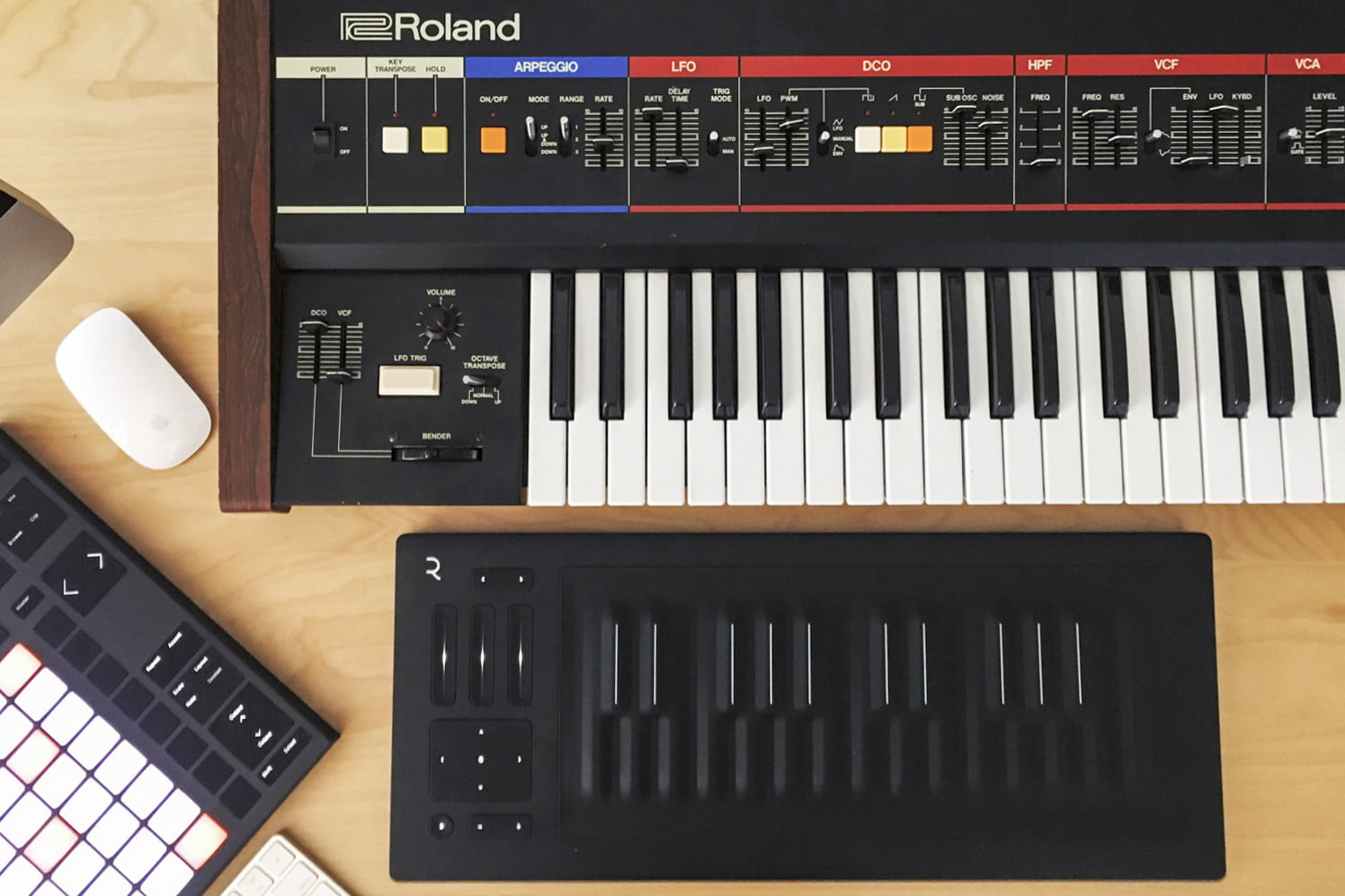 Audiophile Battle Tapes keyboard and other music production equipment