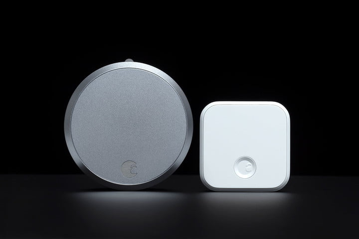 The August Smart Lock Pro with the Connect Hub.