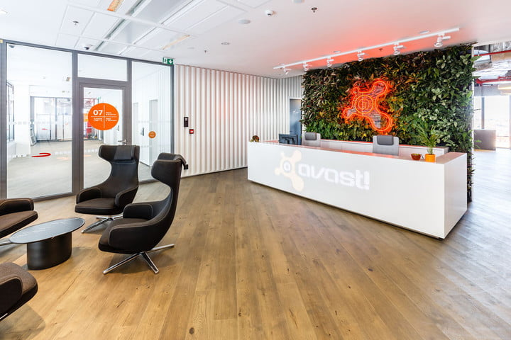 workplace engagement mobility avast offices logo sign hq headquarters