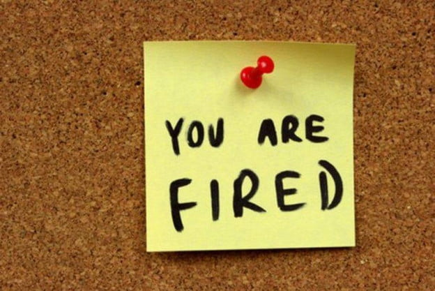 you're fired post it