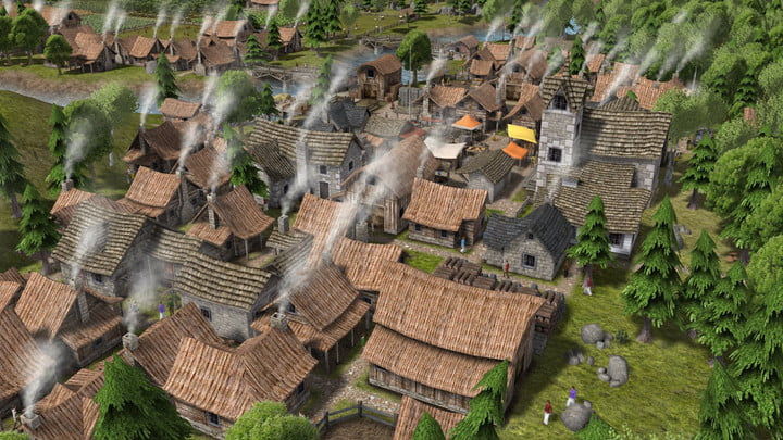 Village houses in Banished.