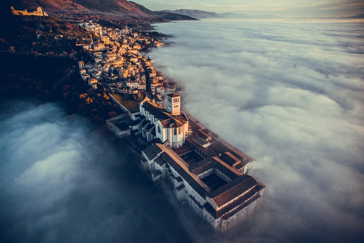 dronestagram best of 2016 basilica saint francis assisi  umbria italy by fcatutto