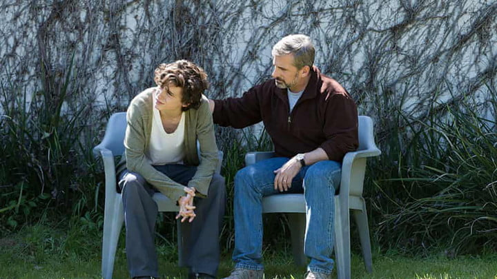 Timothee Chalamet and Steve Carell in Beautiful Boy.
