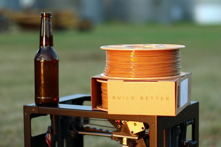 buzzed beer based 3d printing filament 3dom