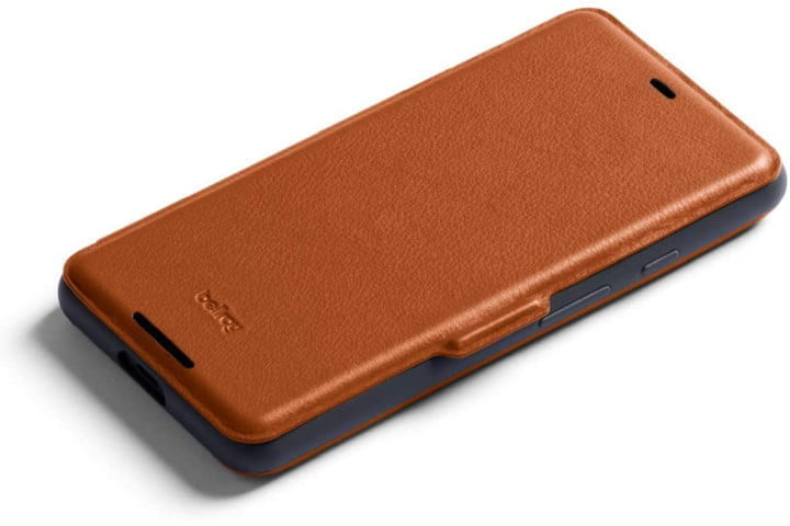Bellroy Leather Wallet Case in tan for the Google Pixel 3.