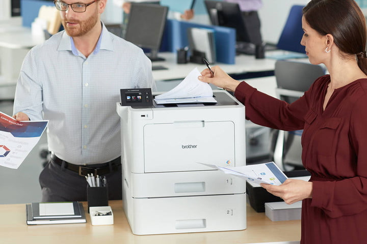 Brother HL-L8360CDW MFP in an office.