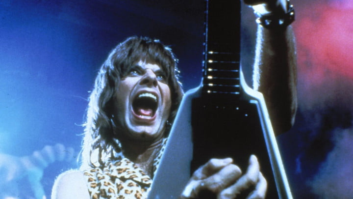 Christopher Guest as Nigel Tufnel in This Is Spinal Tap.