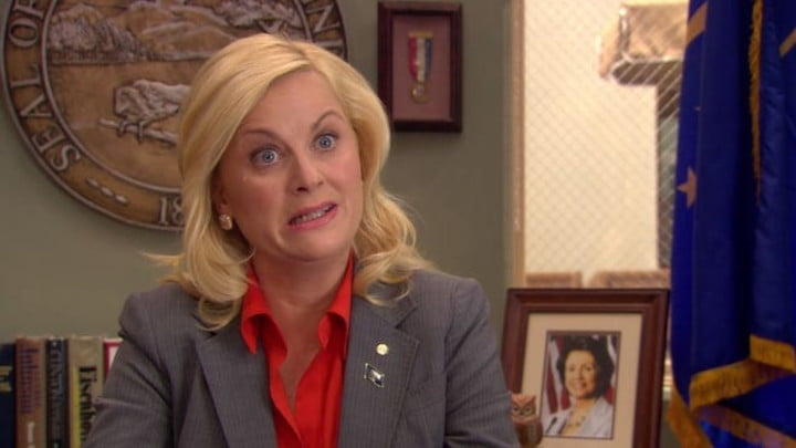 Amy Poehler in Parks & Recreation.