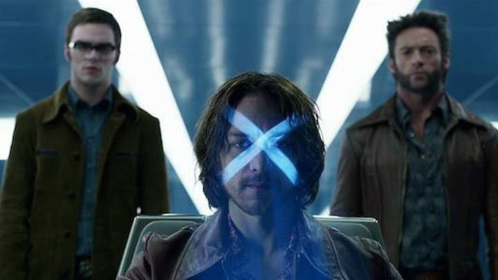 Hank McCoy, Charles Xavier, and Logan in X-Men: Days of Future Past.