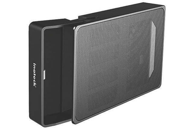 The Inateck 3.5-inch enclosure with mesh case.