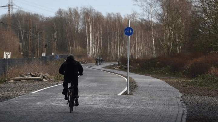 Bicycle Autobahn German roadway exclusive for cyclists