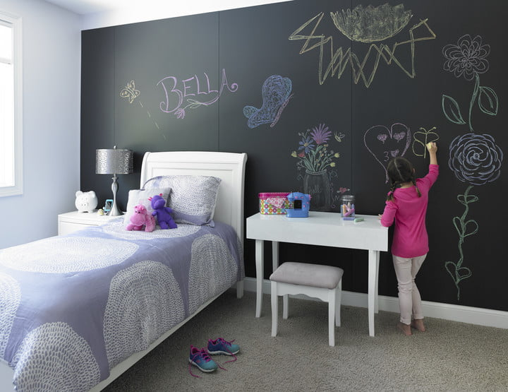 formica writable surfaces black chalkable and coloring book