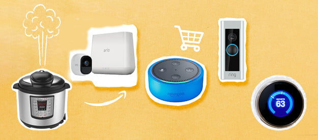 An assortment of Black Friday Smart Home devices.