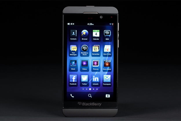 blackberry z10 review front display