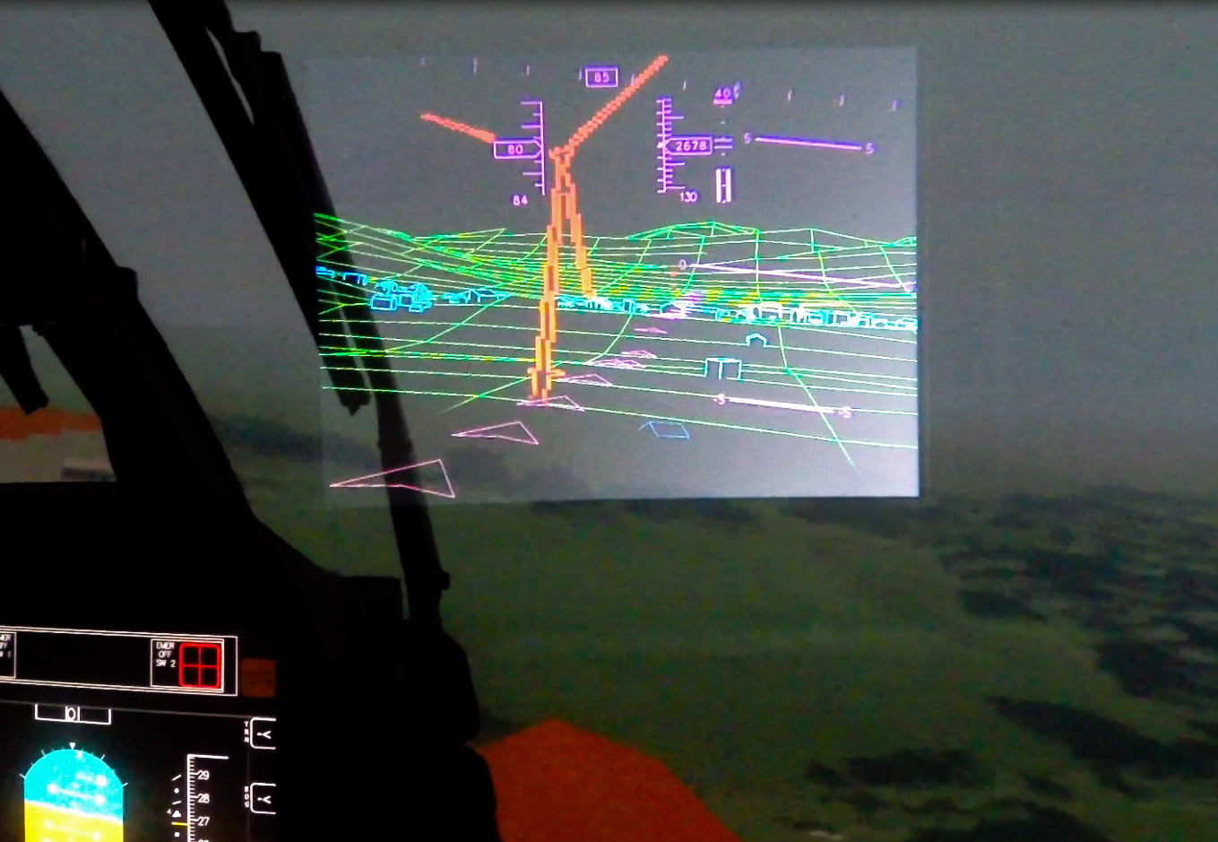 augmented reality pilots blick durch helmsichtger  t