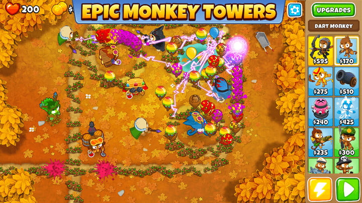 Bloons TD 6 game on Android.