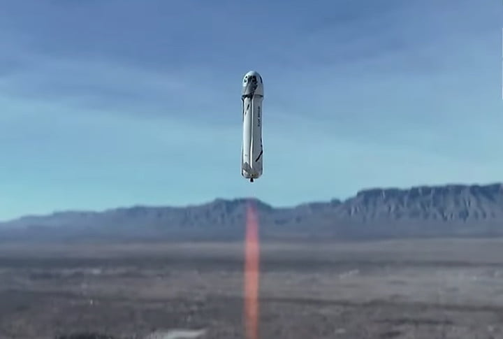 Seat on Blue Origin's first space tourism flight goes for  million