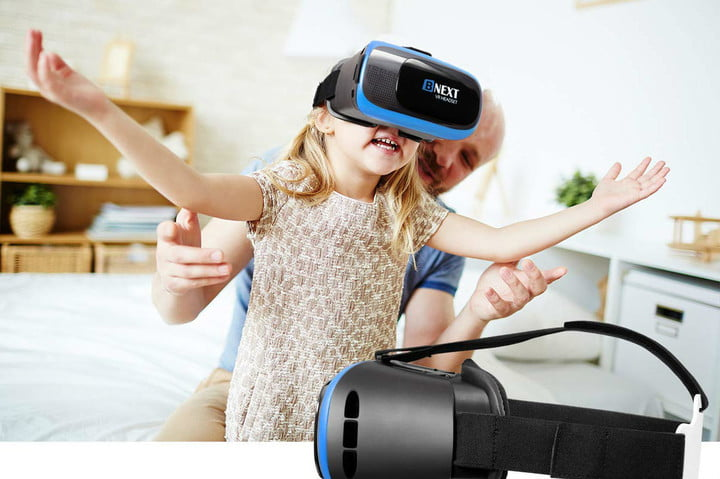 Child playing with the Bnext VR Headset.