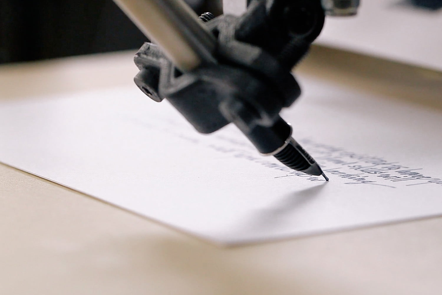 envelope uses robots to write thank you notes for your wedding bond pen on stock