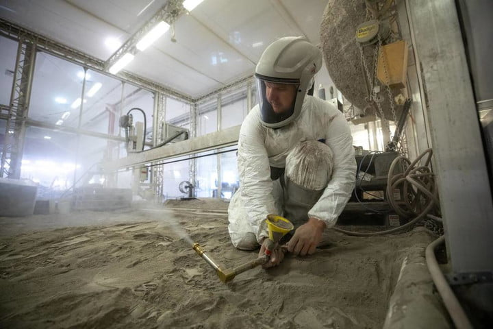 Tests being conducted using simulant regolith.