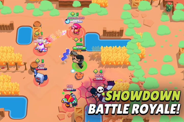 Brawl Stars game on Android.