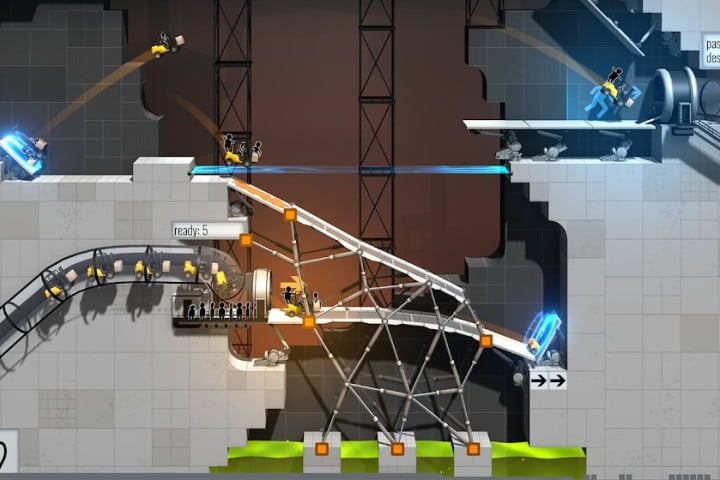 Bridge Constructor Portal game for Android.