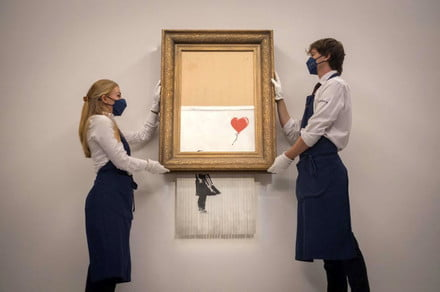 Banksy artwork auction puts the humble shredder in the spotlight