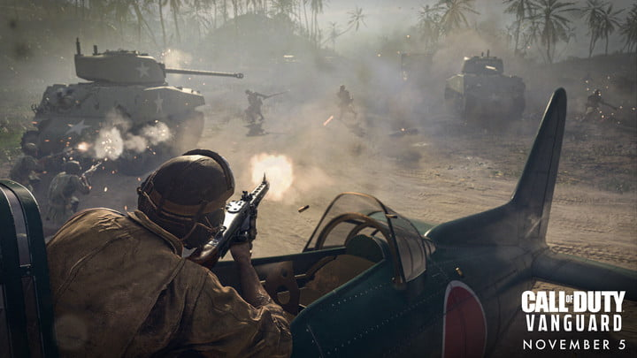 Soldiers in Call of Duty: Vanguard.
