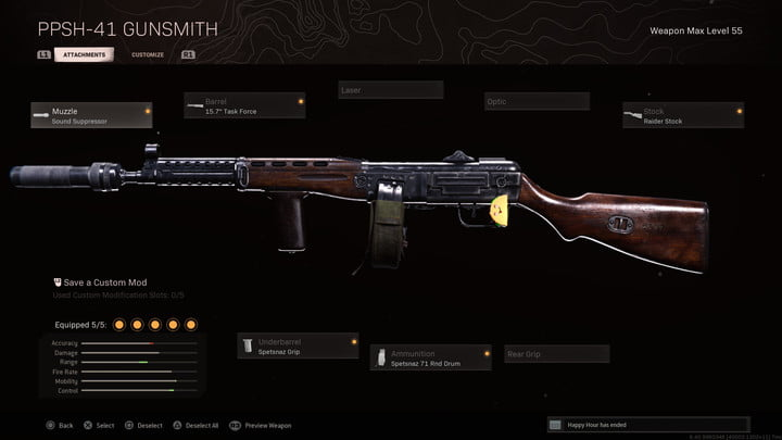 The PPSh-41 in Call of Duty: Warzone.