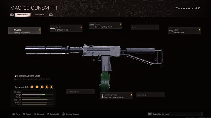 The MAC-10 in Call of Duty: Warzone.