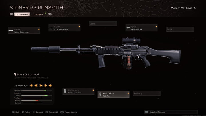 The Stoner 63 in Call of Duty: Warzone.