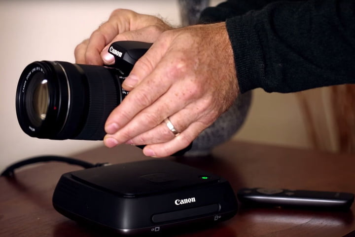 canon connect station is a 1tb media hub for offloading content from cameras stationc cs100 lifestyle shot