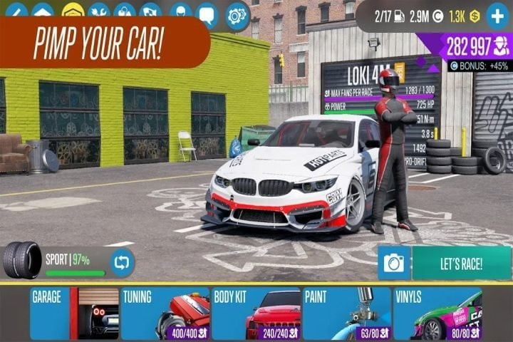 CarX Drift Racing 2 game on Android.