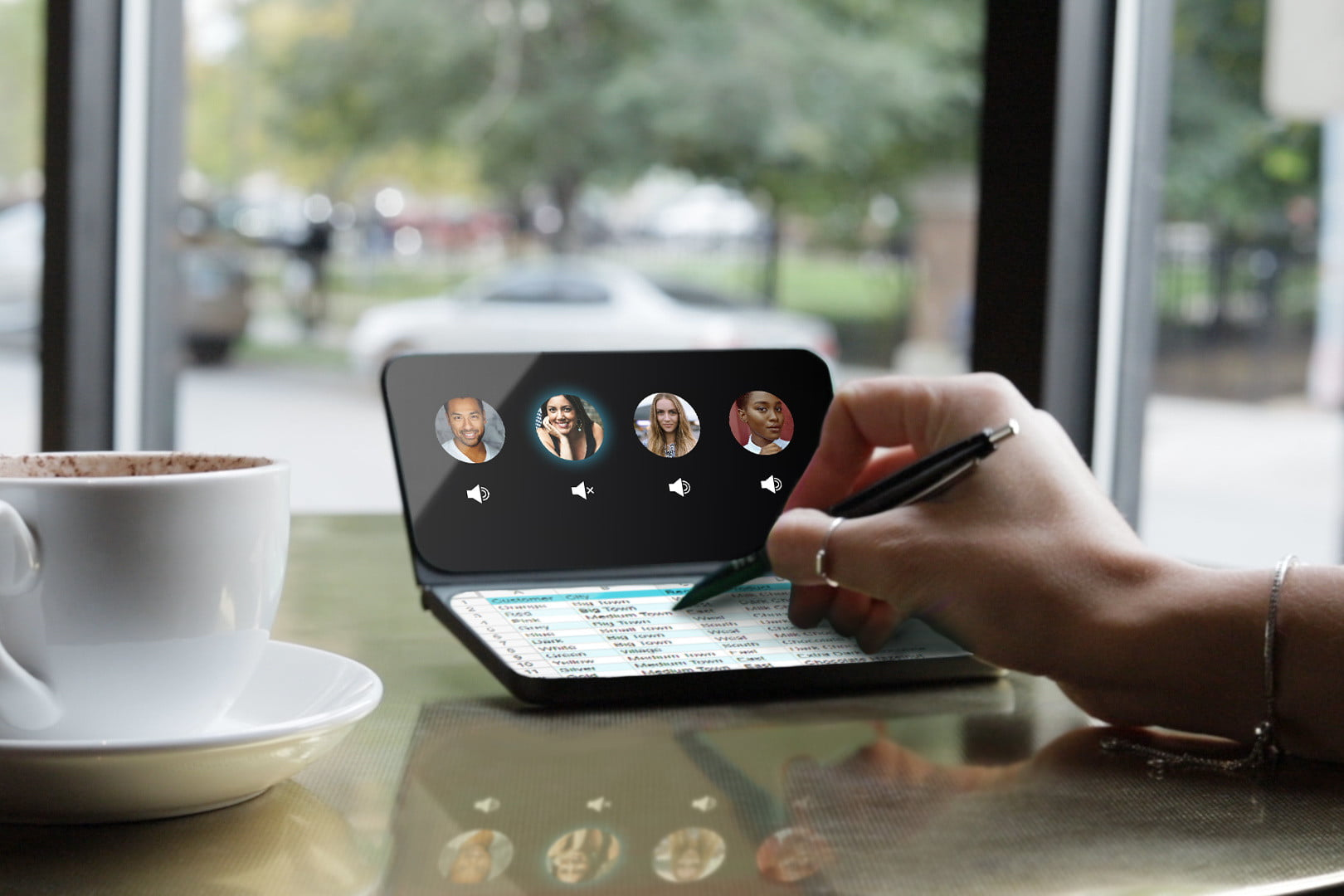 the castaway adds a chromium powered second screen to your smartphone coffee shop