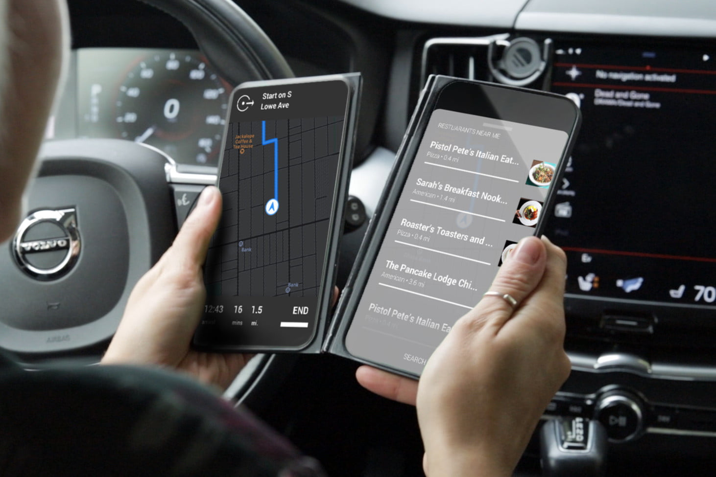 the castaway adds a chromium powered second screen to your smartphone in car