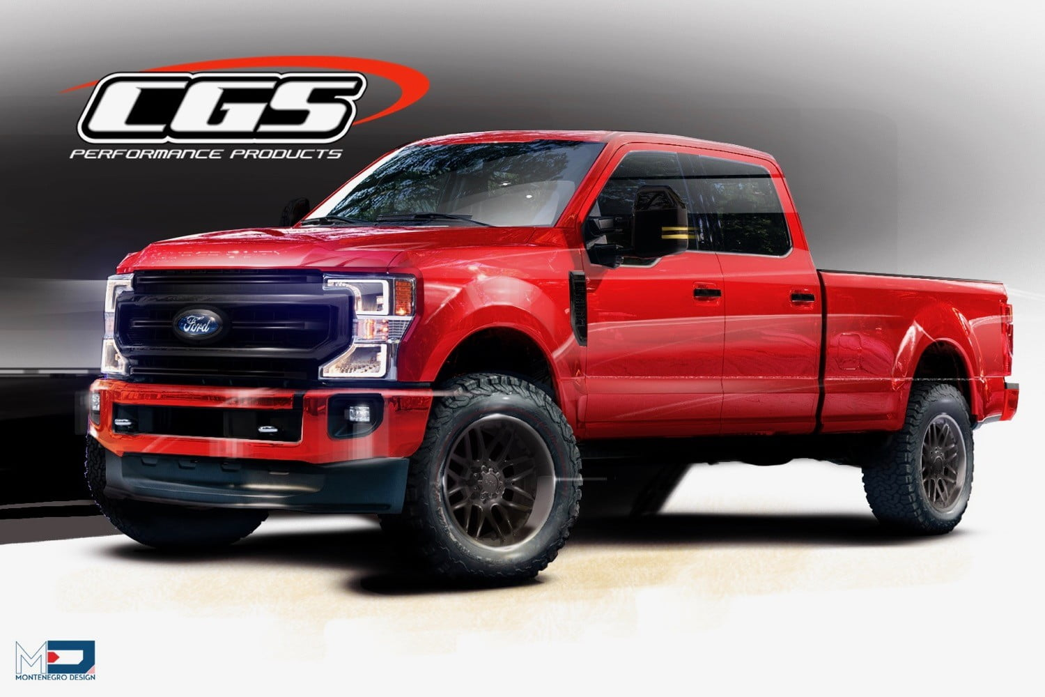 2020 ford f series super duty at sema 2019 cgs performance products 250 tremor crew cab with black appearance package