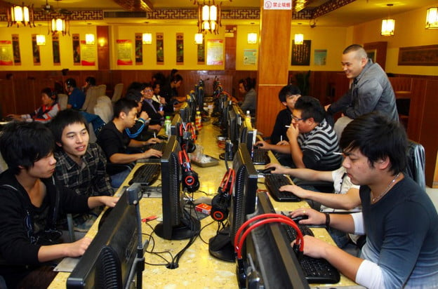 Chinese Internet cafe