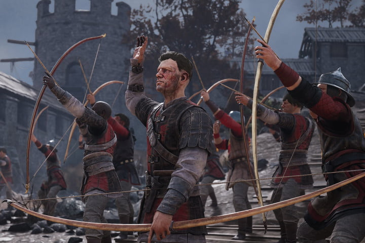 A group of Archers from Chivalry 2.