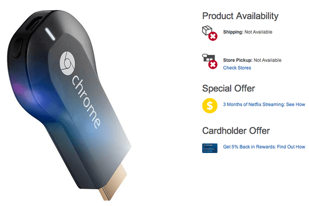 Chromecast Best Buy sellout