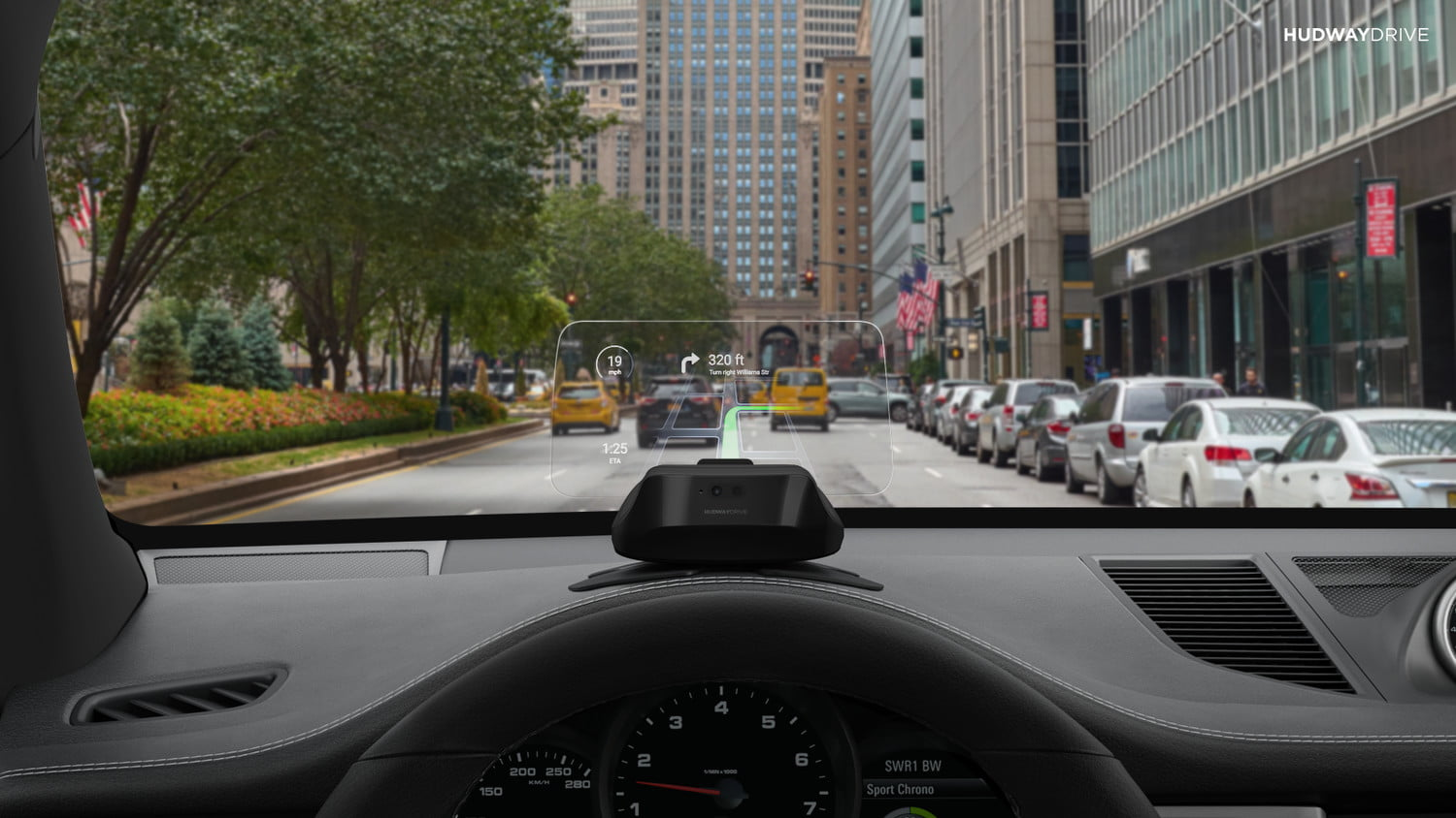 hudway drive heads up display hands on review city