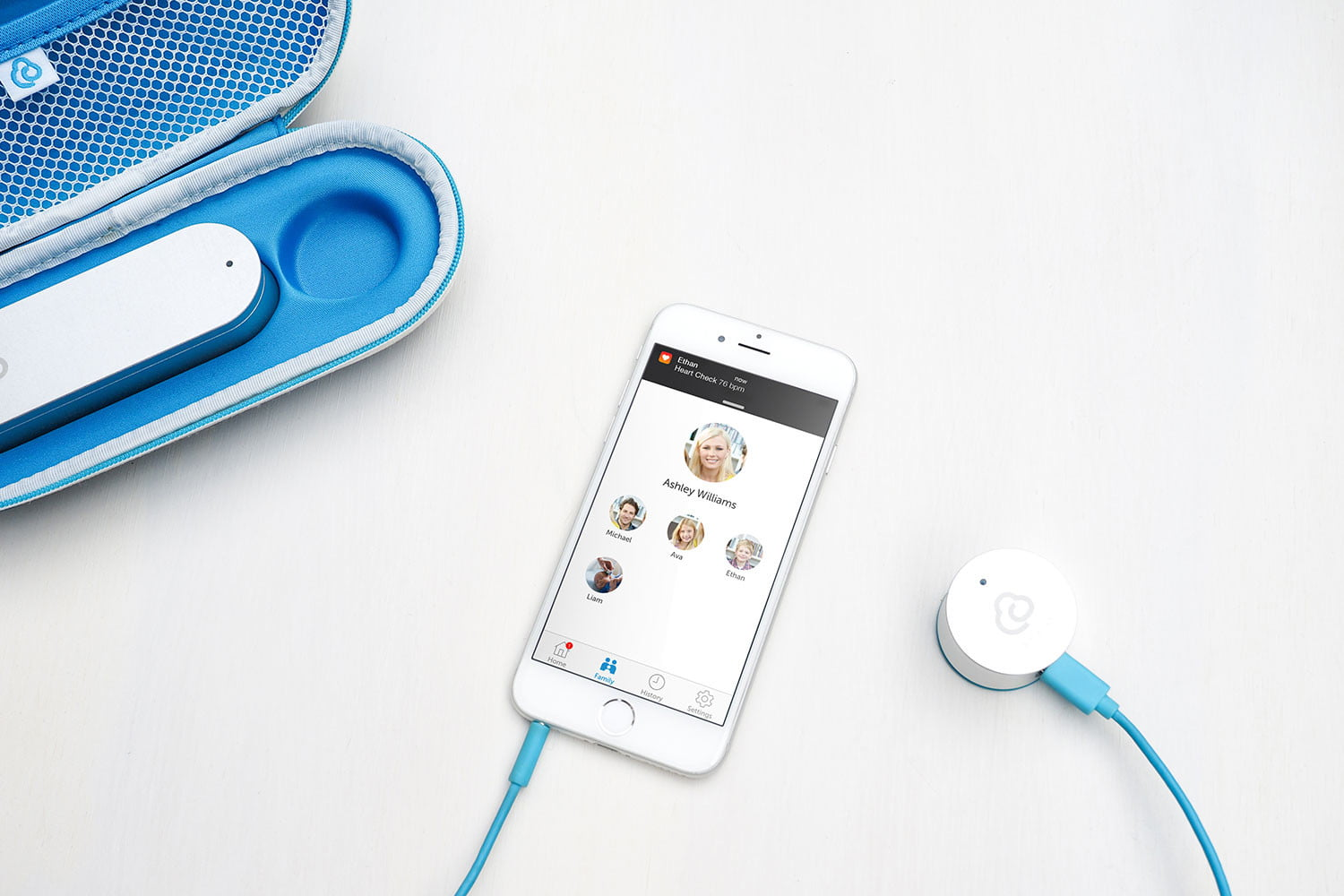 clinicloud smart stethoscope thermometer heroshot