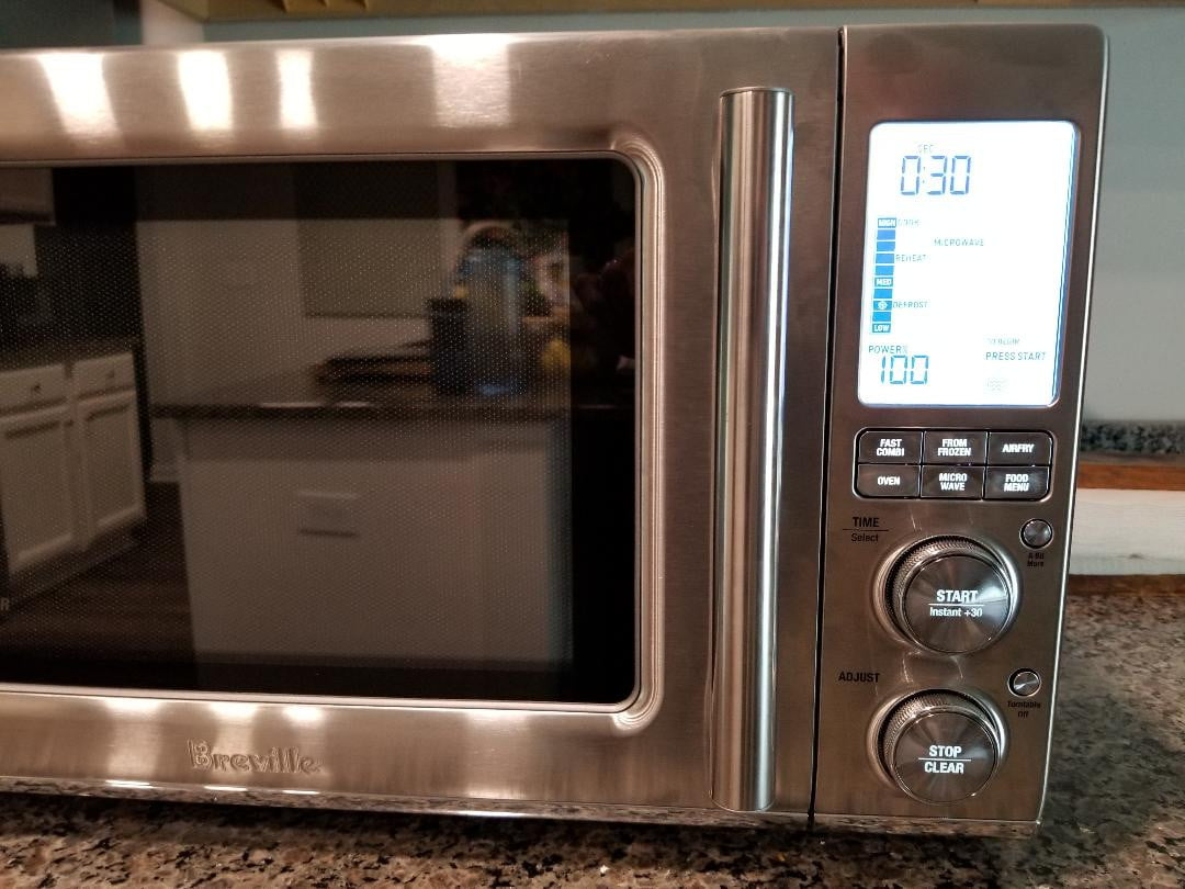 breville combi wave 3 in 1 smart oven control buttons and lcd display