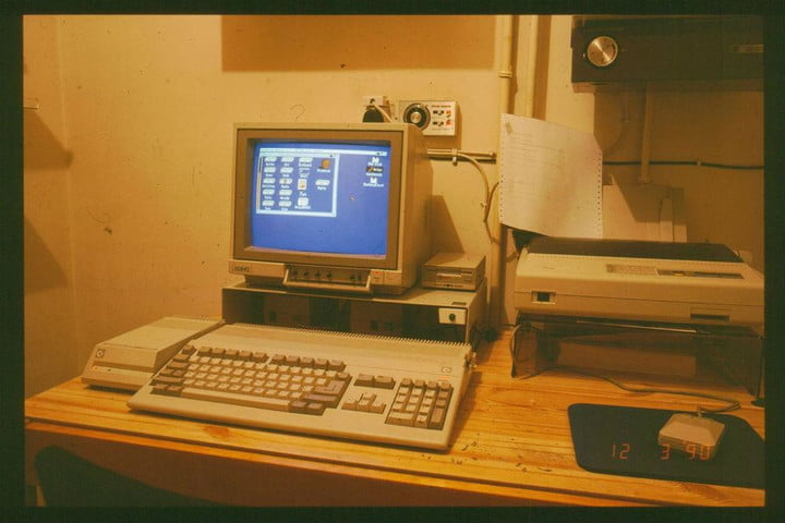 An old Commodore 500 computer.