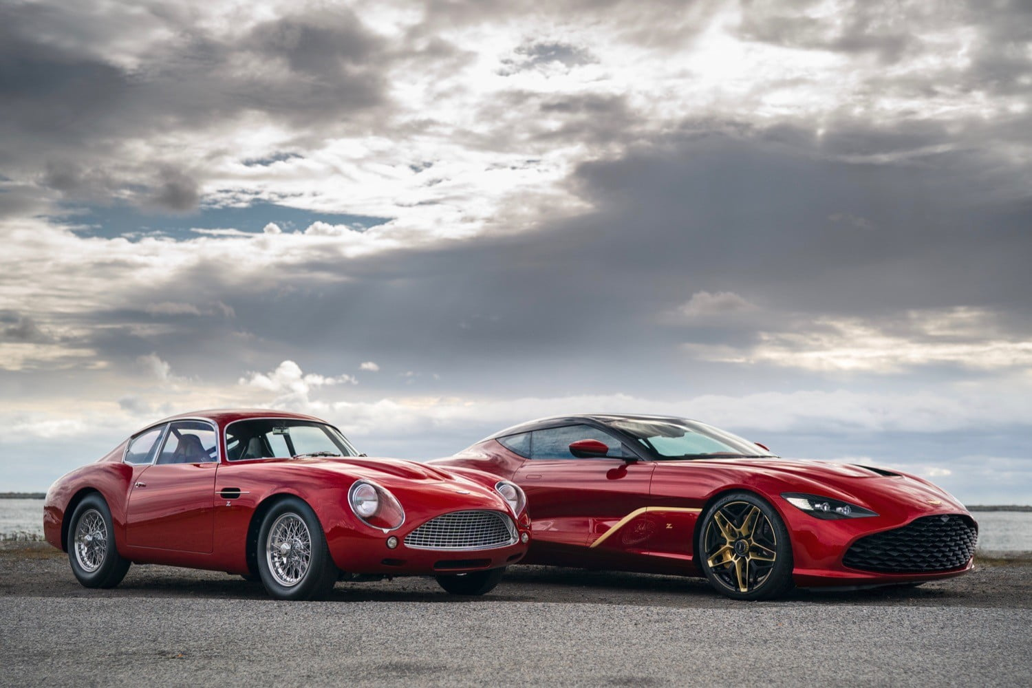 aston martin dbs gt zagato comes with a classic car and db4