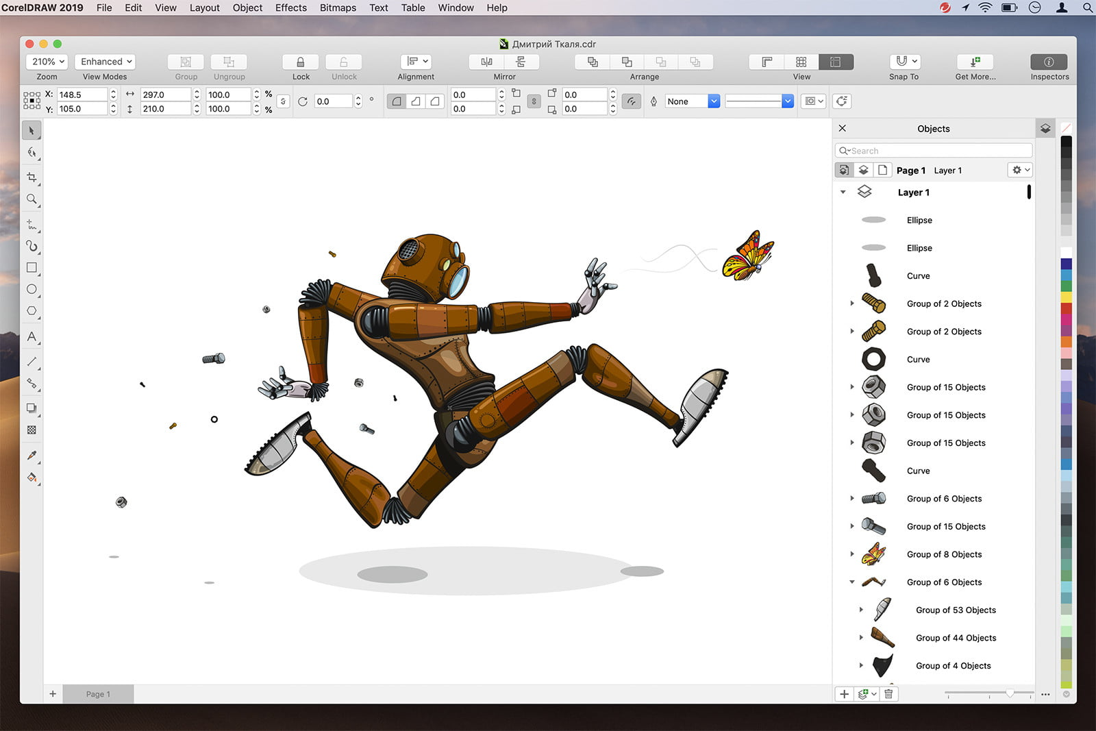 coreldraw graphics suite 2019 unveiled for mac objects inspector en