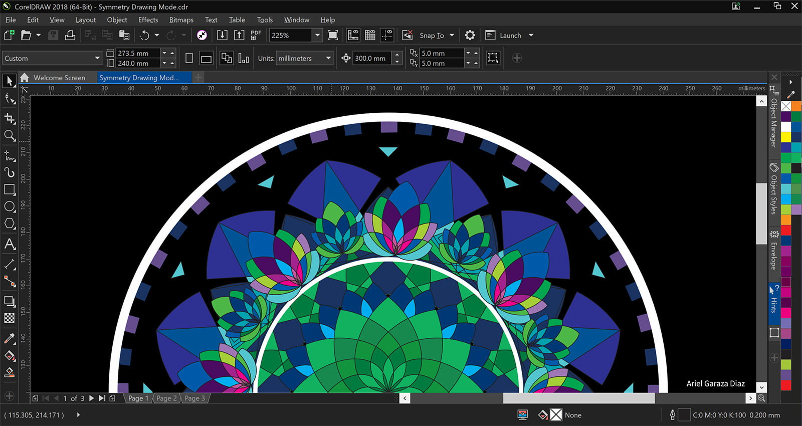 coreldraw graphics suite 2018 launches  symmetry drawing mode copy