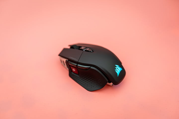 M65 Ultra Wireless on a pink background.